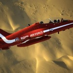 The Red Arrows during Exercise Eastern Arrow 2007. Dubai 07 Nov 07