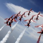 The Red Arrows during Exercise Eastern Arrow 2007. Display at Subang, Malaysia