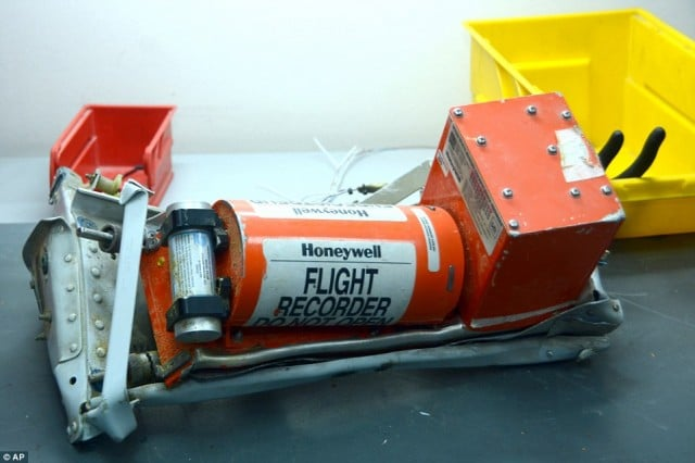 Flight recorder recovered from the wreckage