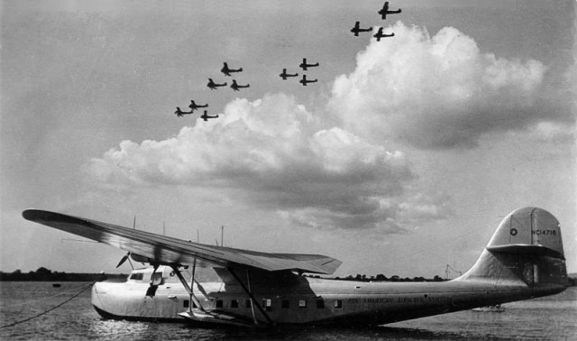 The Pan American Airways Martin M-130 China Clipper (civil registration NC14716) at Pearl Harbor, Hawaii, in the 1930s.