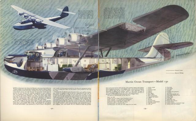 Martin Ocean Transport Plane Cutaway, 1936