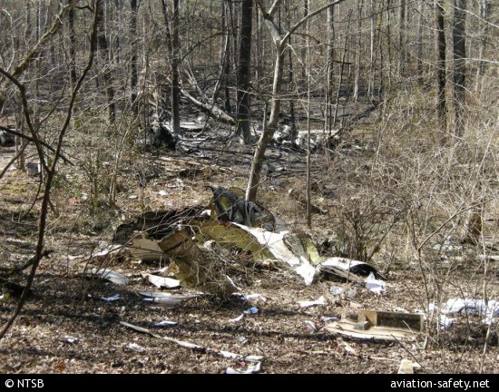 NTSB photograph of the wreckage