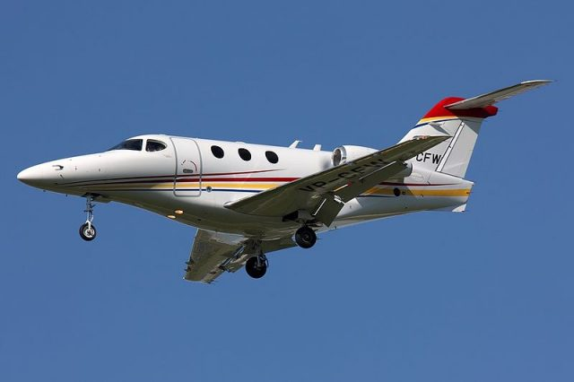 Hawker Beechcraft 390 Premier IA at St. Petersburg - Photograph by Igor Dvurekov