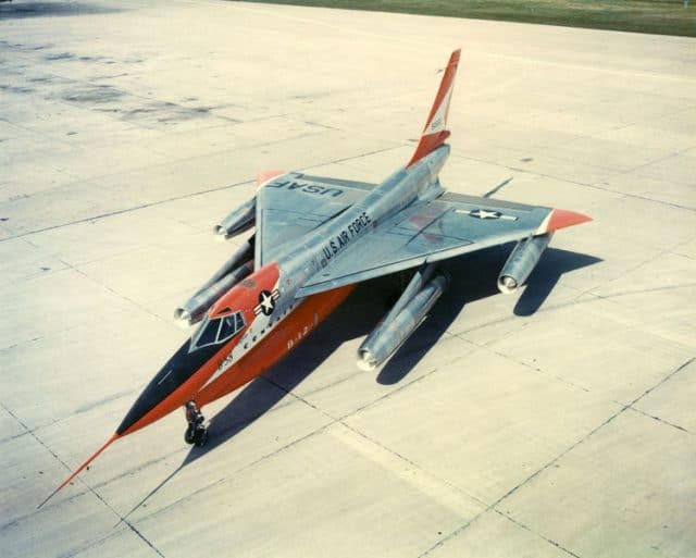 Convair B-58 Hustler in Orange