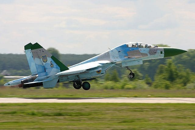 Ukrainian Sukhoi Su-27UB taken 2011 (Photo by Oleg Belyakov)