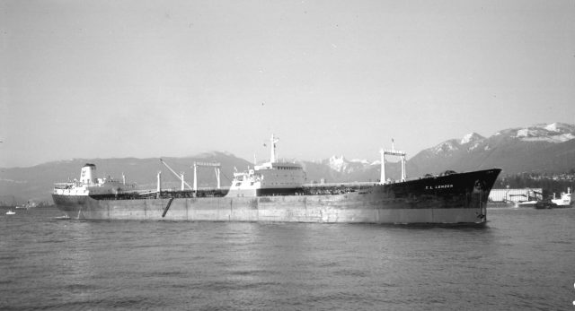 M.S. T.L. LENZEN  in 1973. Photograph by Walter E. Frost.  Courtesy of the City of Vancouver Archives