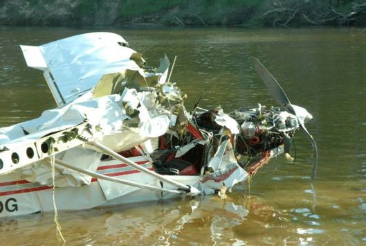 The recovered aircraft