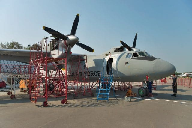 Indian Air Force cargo planes An-32 during the maintenance and equipment upgrade in Ukraine - photograph by dragunov