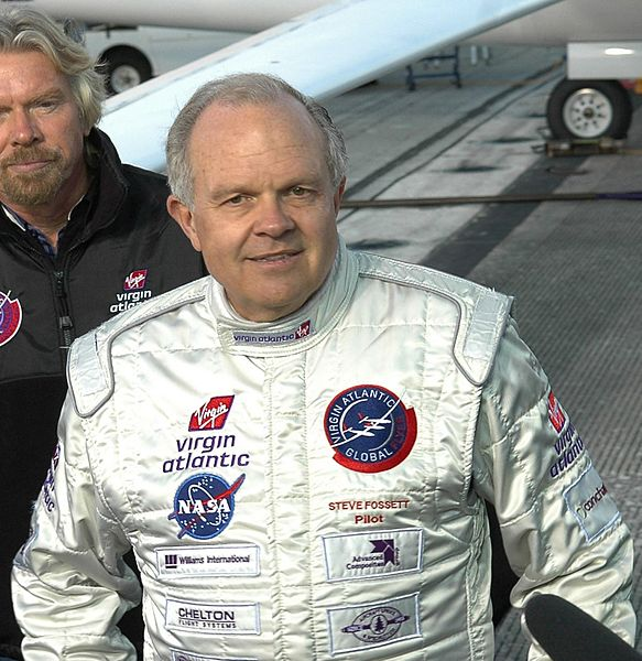 Pilot Steve Fossett by NASA photographer Kim Shiflett