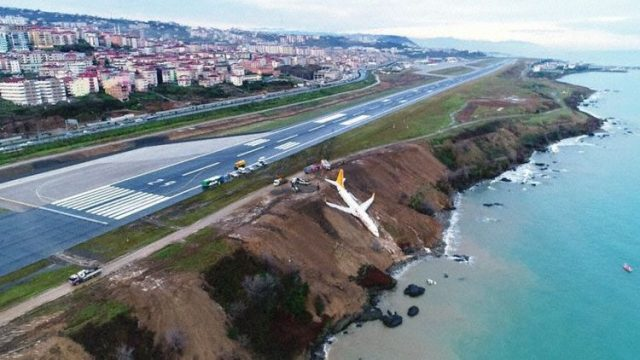 Pegasus Airline Boeing 737 runway excursion Trabzon