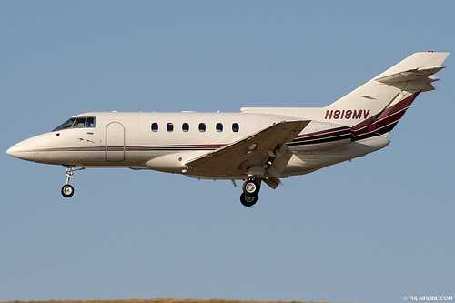 The accident aircraft registration N818MV photographed by Paul Kanagie a year before the crash.