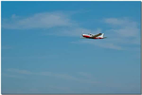 N666EX in flight
