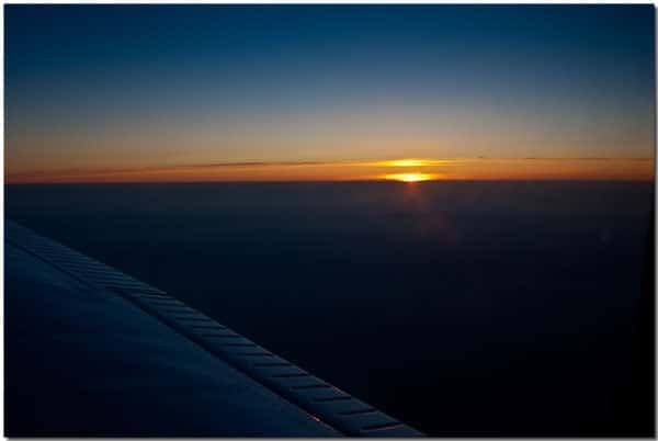 Sunset over France